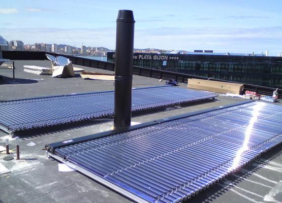 Solar y térmica en Hotel